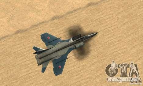 MiG-31 Foxhound für GTA San Andreas rechten Ansicht