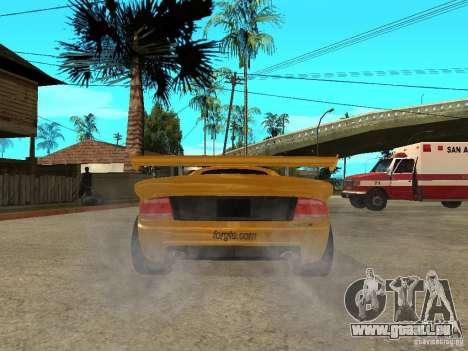 Noble M12 GTO Beta pour GTA San Andreas sur la vue arrière gauche