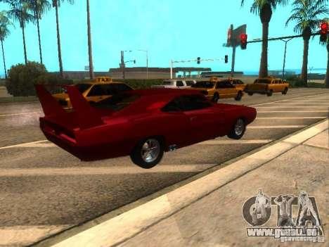 Dodge Charger Daytona Fast & Furious 6 für GTA San Andreas zurück linke Ansicht
