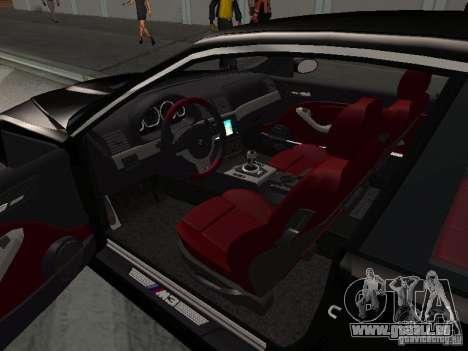 BMW M3 GT-R Stock pour GTA San Andreas vue de dessus