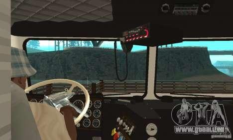 White Freightliner Extended Wheel Base für GTA San Andreas rechten Ansicht