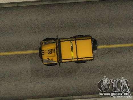 Land Rover Defender Off-Road pour GTA San Andreas vue arrière