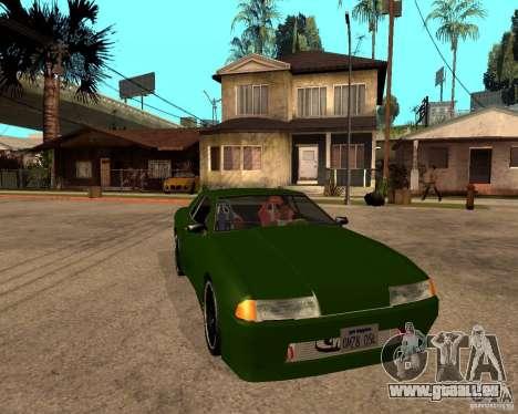 Elegy Green Line pour GTA San Andreas vue de droite
