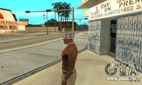 Tatouage cool à CJ-j'ai sur le corps pour GTA San Andreas deuxième écran
