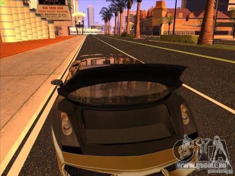 Lamborghini Gallardo Underground Racing für GTA San Andreas obere Ansicht