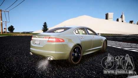 Jaguar XFR 2010 pour GTA 4 Vue arrière de la gauche