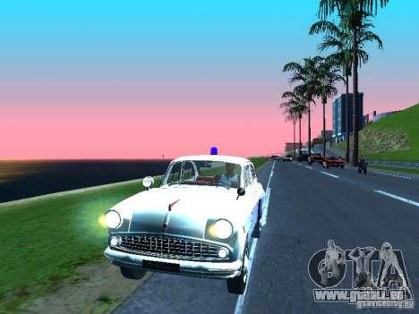 Moskvitsch 403 mit der Polizei für GTA San Andreas linke Ansicht