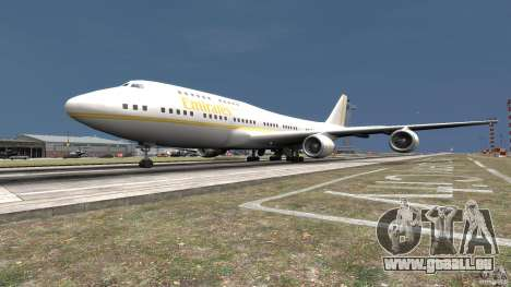 Real Emirates Airplane Skins Gold pour GTA 4