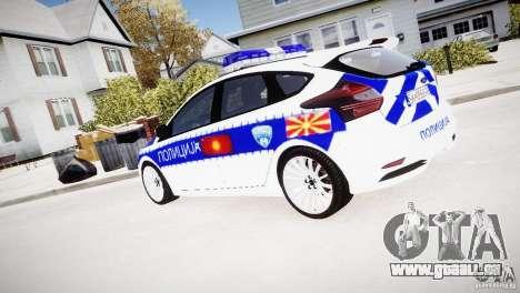 Ford Focus Macedonian Police pour GTA 4 est une gauche