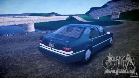 Mercedes Benz SL600 W140 1998 higher Performance für GTA 4 Innenansicht