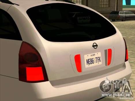 Nissan Primera Wagon pour GTA San Andreas vue de droite