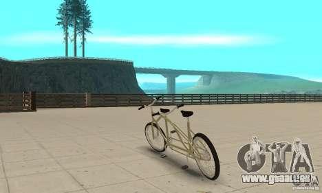 double classic MT Bike pour GTA San Andreas sur la vue arrière gauche
