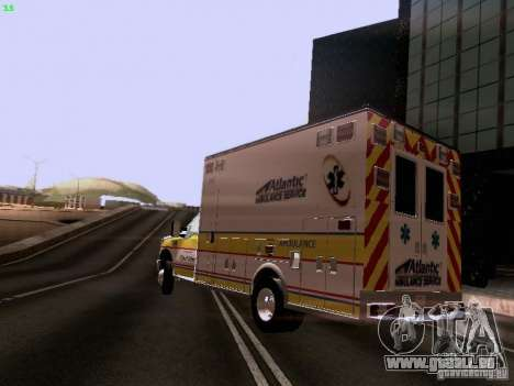 Ford F-350 Ambulance pour GTA San Andreas laissé vue