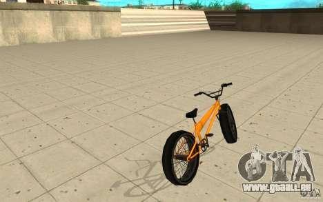 BMX Long Big Wheel Version pour GTA San Andreas sur la vue arrière gauche