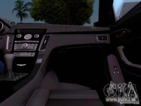 Cadillac CTS-V 2009 für GTA San Andreas Innen