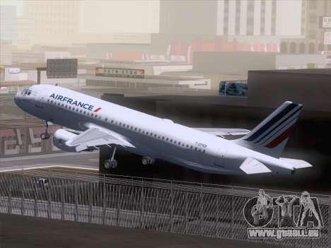 Airbus A320-211 Air France für GTA San Andreas Innenansicht