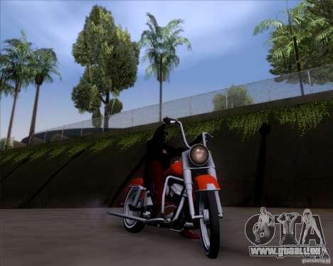 Harley-Davidson FL Duo Glide 1961 (Lowrider) pour GTA San Andreas vue intérieure
