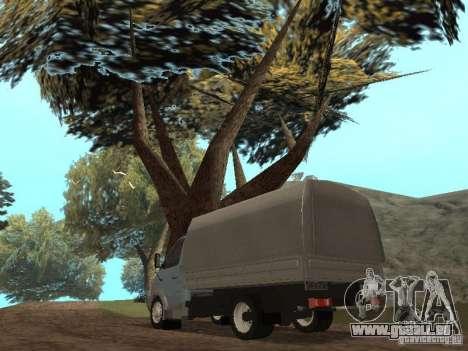 GAZ-3310 Valdaï pour GTA San Andreas sur la vue arrière gauche