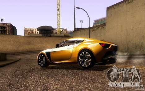 Aston Martin Zagato V12 V1.0 für GTA San Andreas obere Ansicht