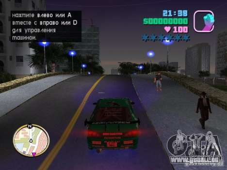 Nissan Silvia S15 Kei Office D1GP pour GTA Vice City vue arrière