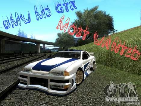 Vinyle avec la BMW M3 GTR dans Most Wanted pour GTA San Andreas