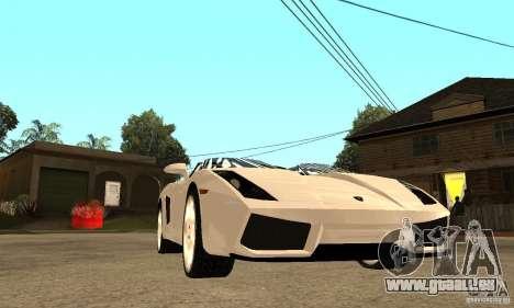Lamborghini Concept S v2.0 pour GTA San Andreas vue arrière