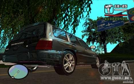 Subaru Forester pour GTA San Andreas vue intérieure