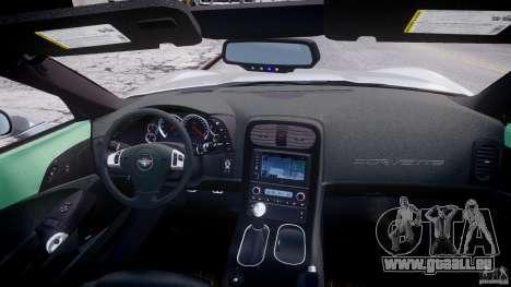 Chevrolet Corvette Grand Sport 2010 v2.0 für GTA 4 Unteransicht