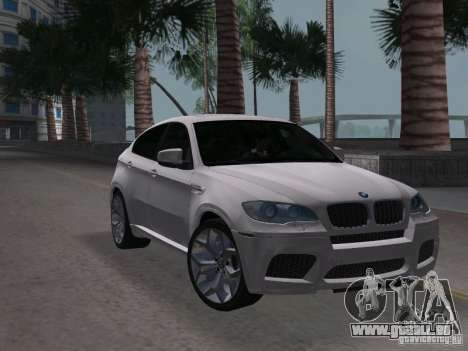BMW X6M pour une vue GTA Vice City de la droite