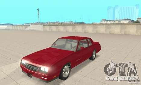 Chevrolet Monte Carlo SS 1986 für GTA San Andreas