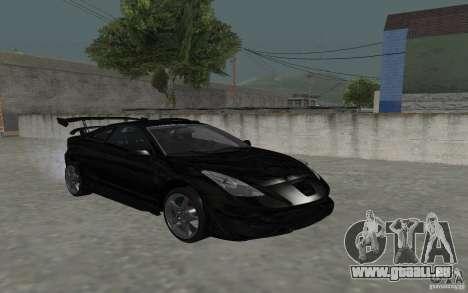 Toyota Celica pour GTA San Andreas vue de dessus