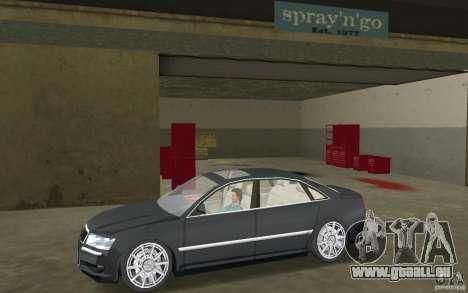 Audi A8 pour GTA Vice City sur la vue arrière gauche