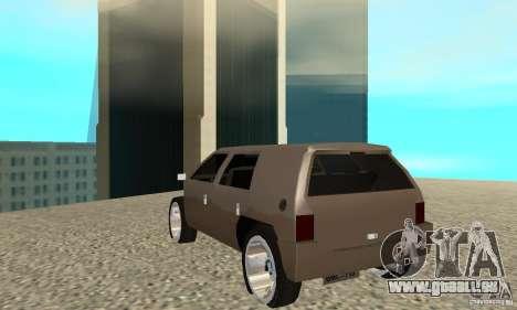Jemala pour GTA San Andreas sur la vue arrière gauche