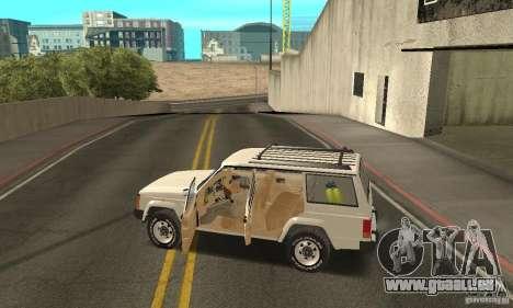 Jeep Grand Cherokee 1986 pour GTA San Andreas salon