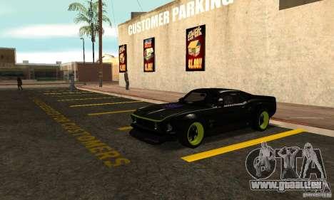 Ford Mustang von NFS Shift 2 für GTA San Andreas linke Ansicht