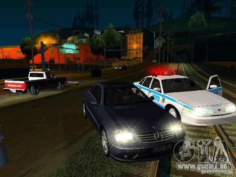 Mercedes-Benz CLK55 AMG pour GTA San Andreas vue arrière