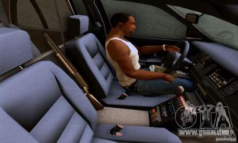 Ford Crown Victoria Mississippi Police pour GTA San Andreas sur la vue arrière gauche