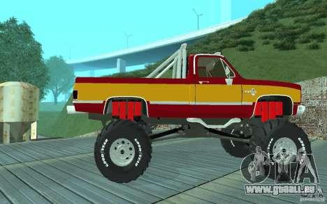 Chevrolet Silverado 2500 MonsterTruck 1986 pour GTA San Andreas sur la vue arrière gauche