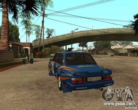 Volvo 242 Lightspeed Rally Edition für GTA San Andreas zurück linke Ansicht
