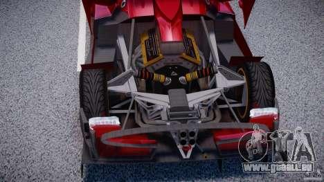 Pagani Zonda R für GTA 4 Rückansicht