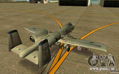 A-10 Warthog für GTA San Andreas rechten Ansicht