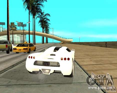 Koenigsegg CCRT pour GTA San Andreas sur la vue arrière gauche
