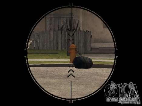 Pp-19 Bizon avec optique pour GTA San Andreas troisième écran