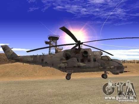 Mil Mi-24 von COD MW 2 für GTA San Andreas linke Ansicht