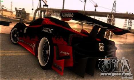 Pagani Zonda R pour GTA San Andreas vue de dessus