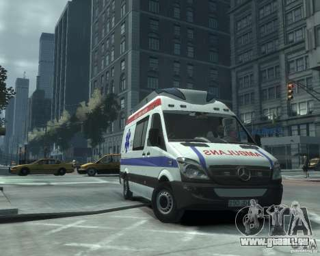 Mercedes-Benz Sprinter Azerbaijan Ambulance v0.1 für GTA 4 linke Ansicht