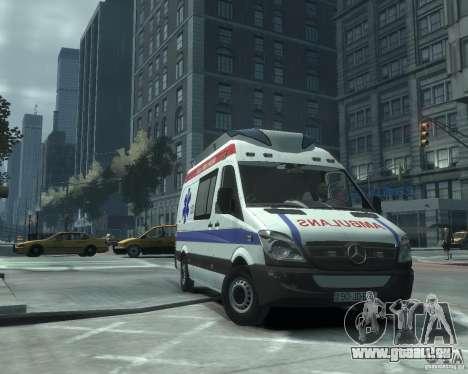 Mercedes-Benz Sprinter Azerbaijan Ambulance v0.1 pour GTA 4 est une gauche