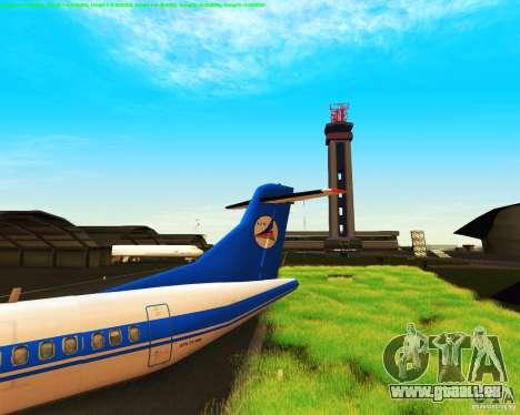 ATR 72-500 Azerbaijan Airlines für GTA San Andreas Rückansicht