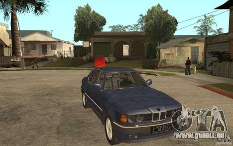 BMW 735Li e32 pour GTA San Andreas vue arrière