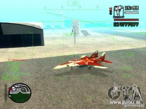 MIG-29 OVT für GTA San Andreas linke Ansicht